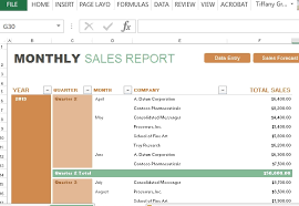 Excel Sales Report Template Monthly Sales Report Template Template Idea