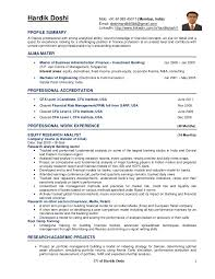 Sample Research Resume by Hardik Doshi Cv