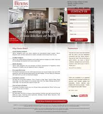 binns kitchens marketing campaign and web design