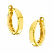 hoop huggie 10k gold 12mm polished huggie hoop earrings view all jewelry