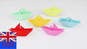 origami ships for kids super easy tutorial for cool decoration