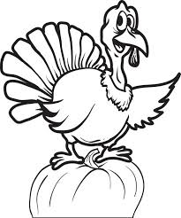 turkey coloring pages happy thanksgiving