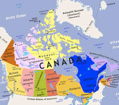 canada states map maps canada states map