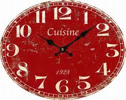 Horloge Murale Rouge by Pendule Originale Pour Cuisine 2017 Et Horloge Murale Pour Images