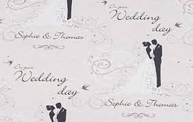 wedding wrapping paper personalised wedding wrapping paper wedding celebrations