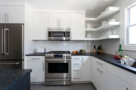 Simple Clean Lines In This White Kitchen Modern Kitchen - Simple modern kitchen