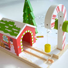 christmas cane tunnel and santa train set by letteroom