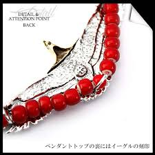 red big necklace images Lether goods silver accessory days art silver 925 big eagle jpg