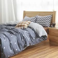 Mens Bed Set Fashion Geometric Pattern Boys Bedding Modern Grey Mens Bedding