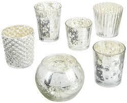 amazon com luna bazaar best of vintage mercury glass candle