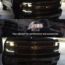 led lights for 2015 silverado 14 15 chevy silverado matte black led drl projector headlights perde