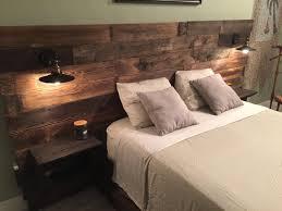 lighted king size headboard rustic wood headboard distressed headboard reclaim cabinets usb