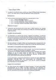 lettre de demande de fourniture de bureau ambaburundi dossier d appel d offres ouvert international