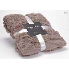 plaid taupe pour canapé plaid vague taupe amadeus achat vente couverture plaid