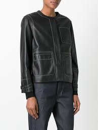 biker jacket sale loewe embossed logo biker jacket black women clothing loewe