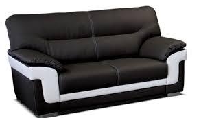 canapé de salon canapé 3 places baltimore noir blanc