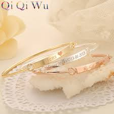 Custom Gold Bracelets Aliexpress Com Buy Drop Shipping Gold Bangle Bar Bracelets