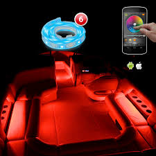 Led Lights Flexible Strip by Xkglow Xk Silver App Wifi Controlled Pontoon Boat Narine Interior