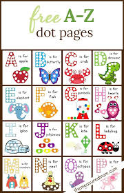 dot sticker pages alphabet worksheets dots and alphabet