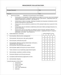 sample manager evaluation general manager evaluation form sample