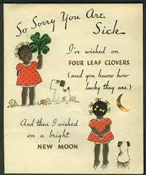 cards for the sick buy so sorry you are sick negro pickaninny stereotype greeting