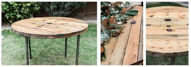 wood spool tables laki events and design