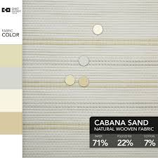 cabana sand cordless roller 36 x 72 in solar shade chicology
