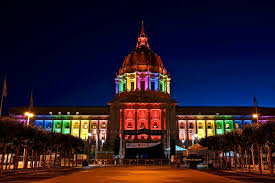 sf city hall lights san fran city hall pride lights photography pinterest pride