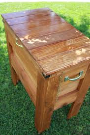 Wood Patio Furniture Ideas Furniture Rustic Wood Patio Cooler Cart With Wine Rack For