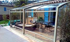 retractable terrace enclosure corso without middle profile frame
