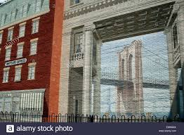 nyc wall mural painted on building to remember the lost of stock nyc trompe l oeil wall mural depicting the brooklyn bridge and 19th century storefronts
