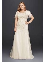 modest wedding dress plus size modest wedding dress with floral lace david s bridal