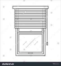 vector black icon blinds house interior stock vector 639965929