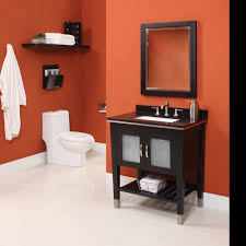 Red And Black Bathroom Ideas Fair Decorating Ideas Using Refurbished Bathroom Vanities