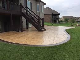 Concrete Patio With Pavers Backyard Concrete Patio Ideas For Small Backyards Concrete Patio