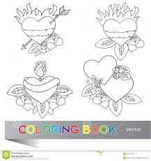 design coloring book heart tattoo design coloring book stock vector image 43673826