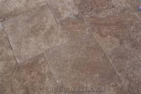 noche travertine tumbled pattern floor tiles noce brown