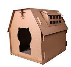 amazon com toparchery cat cardboard house cardboard diy