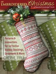 embroidered christmas an embroidered christmas patterns for 24 festive