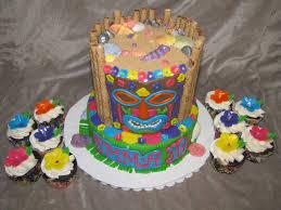 Luau Cake Decorations Tiki Luau Cake Cakecentral Com