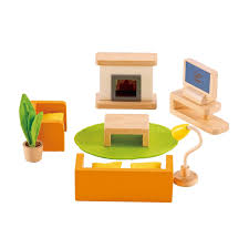hape all seasons dollhouse family media room jadrem toys australia