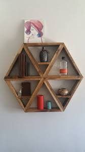 Woodworking Shelves Design by Best 25 Hexagon Shelves Ideas On Pinterest Honeycomb Shelves