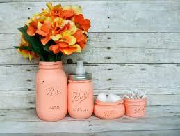 Mason Jar Bathroom Decor Painted Mason Jar Ideas Collection On Ebay