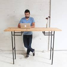 Diy Adjustable Standing Desk by Diy Plumbers Pipe Standing Desk Diy Standing Desk Desks And Pipes