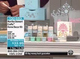 martha stewart crafts home decor kit youtube