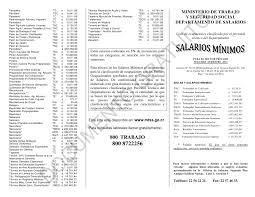 tabla de salarios en costa rica 2016 lista salarios mínimos para el sector privado que rige a partir del 1