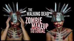 the walking dead zombie halloween makeup tutorial