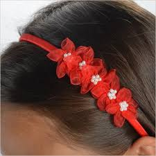 hair band flower girl hair accessory band with pearls