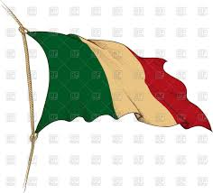 Flag Of Itali Old Waving Flag Of Italy Royalty Free Vector Clip Art Image 43117
