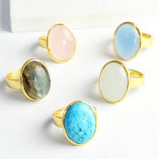 stone rings jewelry images Evie oval semi precious stone ring by lisa angel jpg
